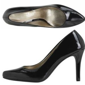 Christian Siriano Black Patent Pointed Pumps